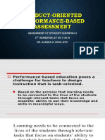 Product Oriented Performance Based Oriented