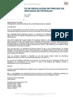 Decreto 338 Reglamento de Precios de Derivados de Petroleo