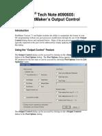 090605 Output Control