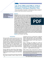 A Comparative Study of the Differential Effects of Short term Asana and Pranayama Training on Reaction Time