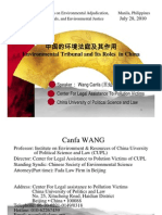 Wang Canfa - Environmental Tribunal and Its Roles in China