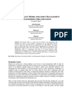 A Data Quality Model for Asset Mgnt in Engineering Organizations