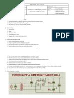 Laporan Tegangan Power Supply Simetris
