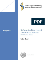Deformation Behaviour of Lime Cement Columns Stabilized Clay