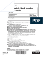 Book Keeping and Accounts Past Paper Series 3 2014