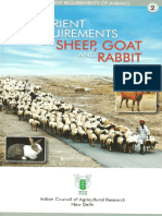 Nutrient Requirements of Sheep Goa