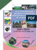 Plan Estratégico de Desarrollo Provincial Concertado