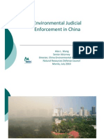Alex Wang - Environmental Judicial Enforcement in China