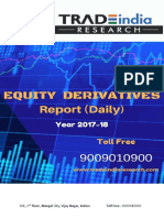 Equity Derivatives Report 20.01.2018 by TradeIndia Research