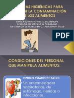 Medidas Higiénicas Para Prevenir La Contaminación de Los Alimentos