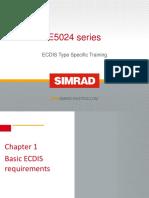 Simrad E5000 ECDIS Type Specific Training Course 150415rev 4