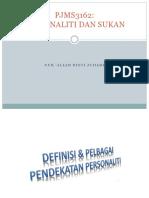 Tajuk 2; Personaliti & Sukan