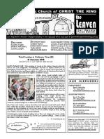 Christ The King Leaven Bulletin 012118