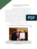 Balance y Perspectivas de Donald Trump