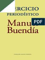 Manuel Buendía Ejercicio Periodístico Libro