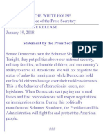 Statement by the Press Secretary
