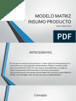Modelo Matriz Insumo Producto