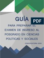 GUÍA PARA PREPARAR EL EXAMEN DE INGRESO AL POSGRADO EN CIENCIAS POLÍTICAS Y SOCIALES