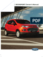 Ford Ecosport Manual