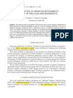 DMT-predicted vs Observed Settlements-2007