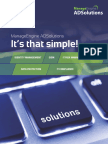 ManageEngine AD Solutions -Product Brochure