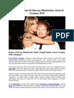 Taylor Swift Dan Ed Sheeran Dikabarkan Absen Di Grammy 2018