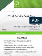 ITIL & ServiceDesk Plus