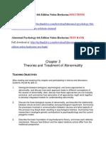 Abnormal Psychology 6th Edition Nolen-Hoeksema Solutions Manual