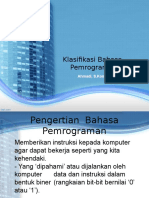 Klasifikasi Bhs Pemrograman.ppt