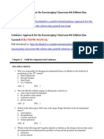 Guidance Approach for the Encouraging Classroom 6th Edition Dan Gartrell Test Bank