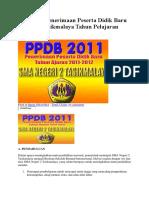 Informasi PPDB SMANDA TASIKMALAYA 2011.docx