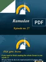 Ramadan Episode No 27