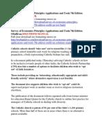 Survey of Economics Principles Applications and Tools 7th Edition OSullivan Test Bank 1