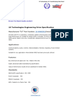 1XB9802EQ - 1X Technologies Engineering Drive Specification  (Belden 9802 Equivalent Cable)