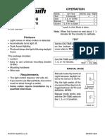 Heath Zenith Light Owners Manual;