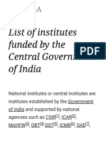 List of Institutes Funded by the Central Government of India - Wikipedia