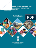 Normalization Document and M&v Guidelines for Textile