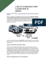 Perodua Myvi vs Proton New Saga Blm Review