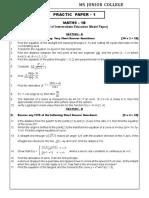 Mathematics 1B Guess paper