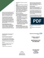 Bartholin Cyst or Abscess - Leaflet v3 April 17