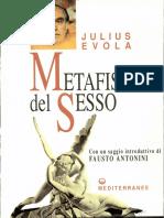 Julius Evola   -Metafisica Del Sesso-Edizioni Mediterranee (1969)