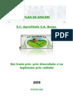 Planul de Afaceri Al Unei Exploatatii Agricole - SC AgroVitalis SA Buzau