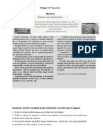 Teste Português 7º Ano - A Noticia