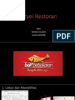 Survei Restoran