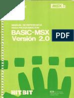 Manual de Referencia Para Programación MSX-BASIC Versión 2.0