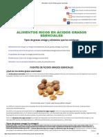 Alimentos Ricos en Ácidos Grasos Esenciales - I