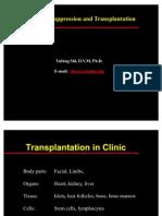 Immunosuppression and Transplantatio