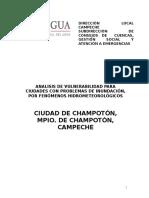 Analisis de Vulnerabilidad Champoton2013