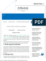 Teknik-teknik Supervisi Akademik - Al-maududy