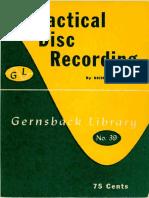 Gernsback Practical Disk Recording No 39 1948